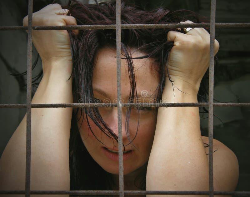 被监禁的妇女 库存图片