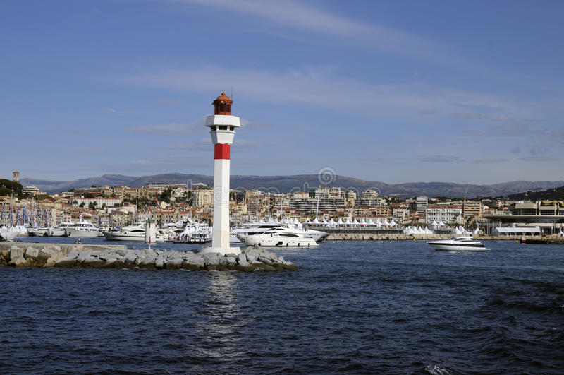 被看见的戛纳法国海运 库存照片