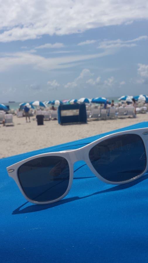 被看见的海滩 库存照片