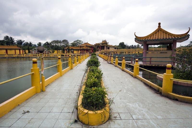 被看见的飞腓节Yeen,孔子寺庙, Chemor,马来西亚 库存照片
