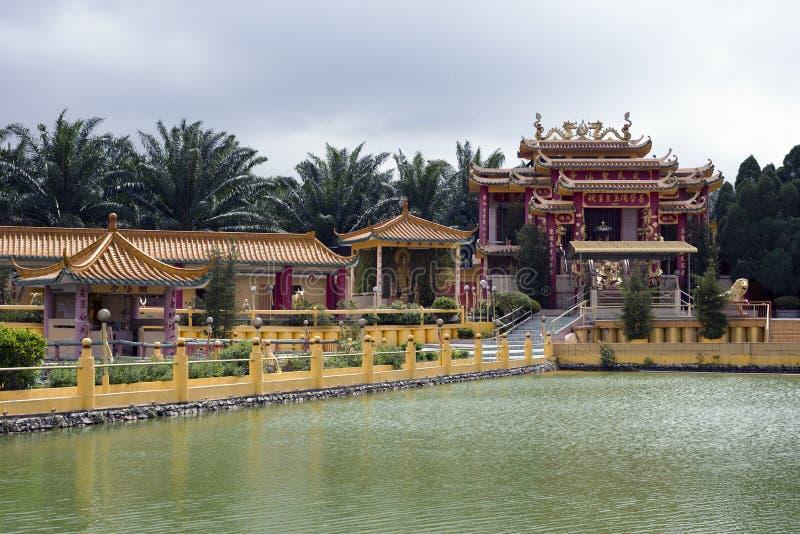 被看见的飞腓节Yeen,孔子寺庙, Chemor,马来西亚 免版税库存图片
