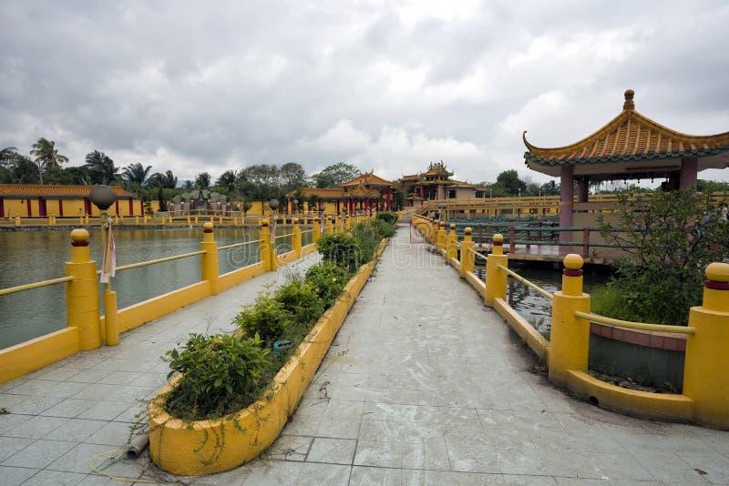 被看见的飞腓节Yeen,孔子寺庙, Chemor,马来西亚 免版税库存照片