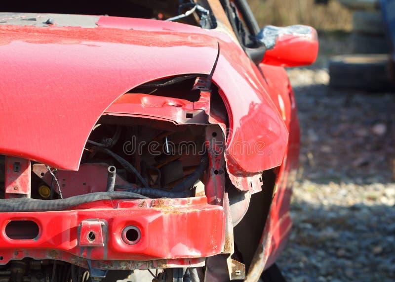 被砸的汽车 库存照片
