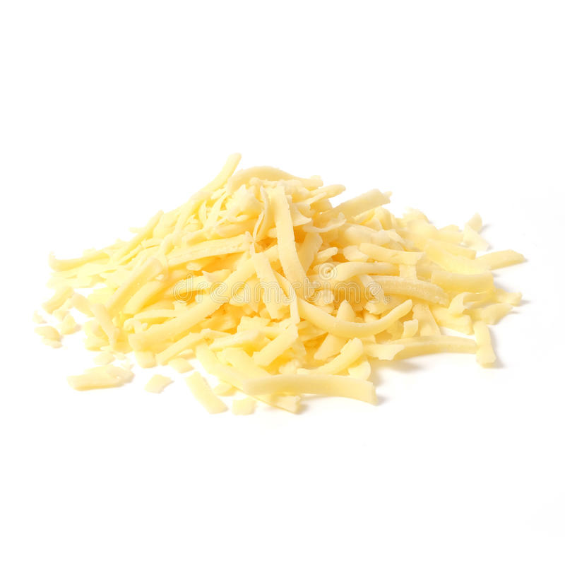 被磨碎的切达干酪 库存图片