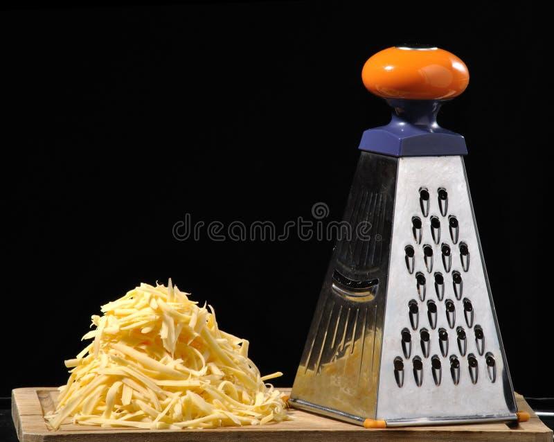 被磨碎的干酪 免版税库存照片