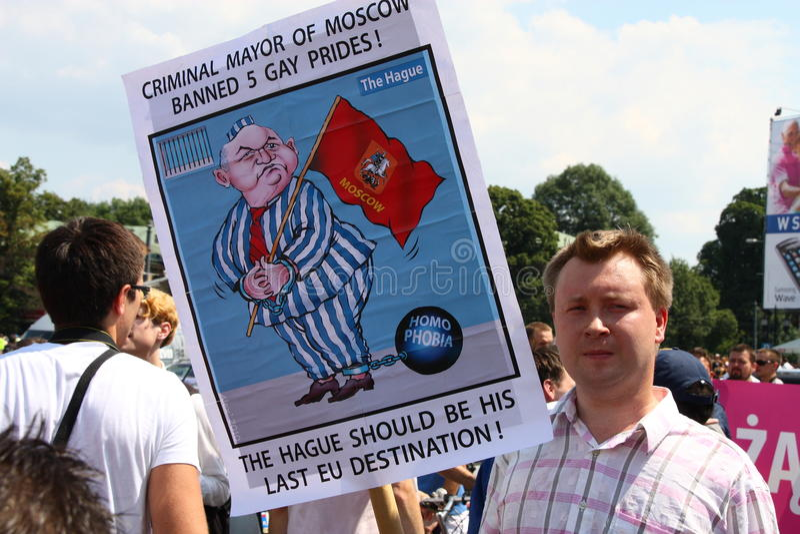 被禁止的同性恋者 免版税库存照片