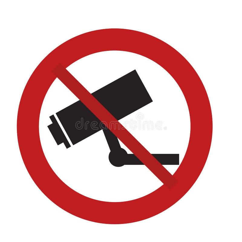 被禁止的标志路照相机监视安全 向量例证