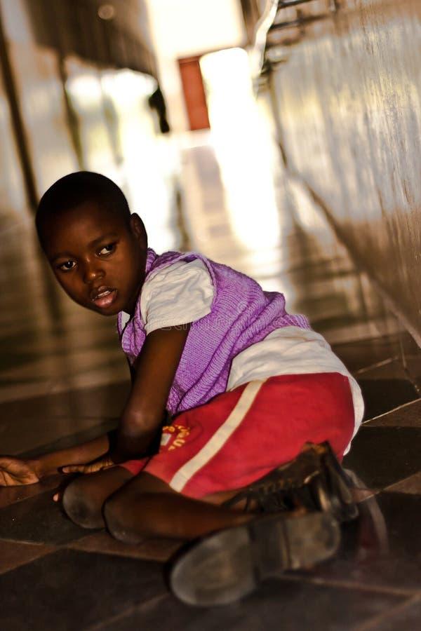 被禁用的非洲儿童诊所 库存图片