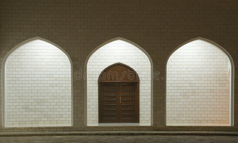 被称呼的阿拉伯门 库存图片