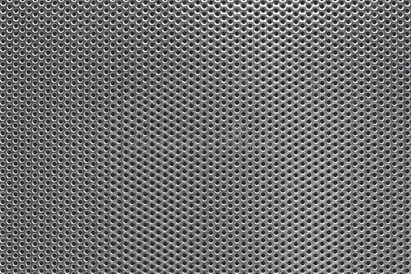 被穿孔的背景灰色金属 免版税库存图片