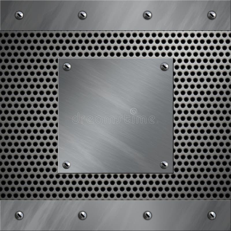 被穿孔的铝框架金属 免版税库存照片