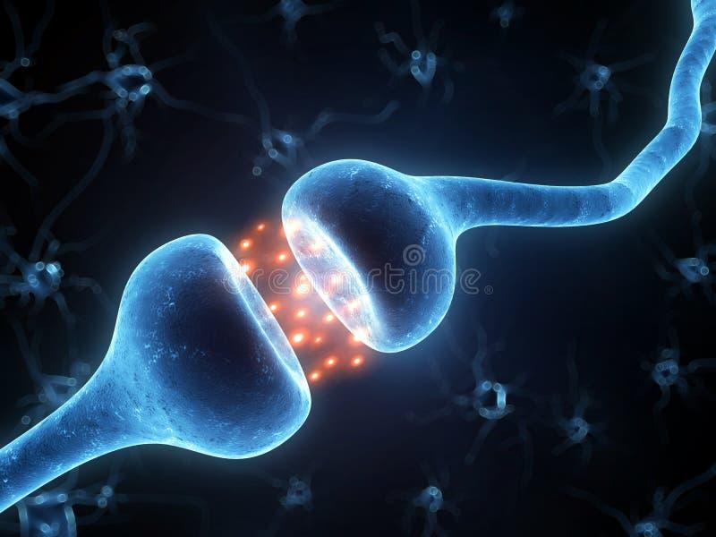 被突出的感受器官 库存例证
