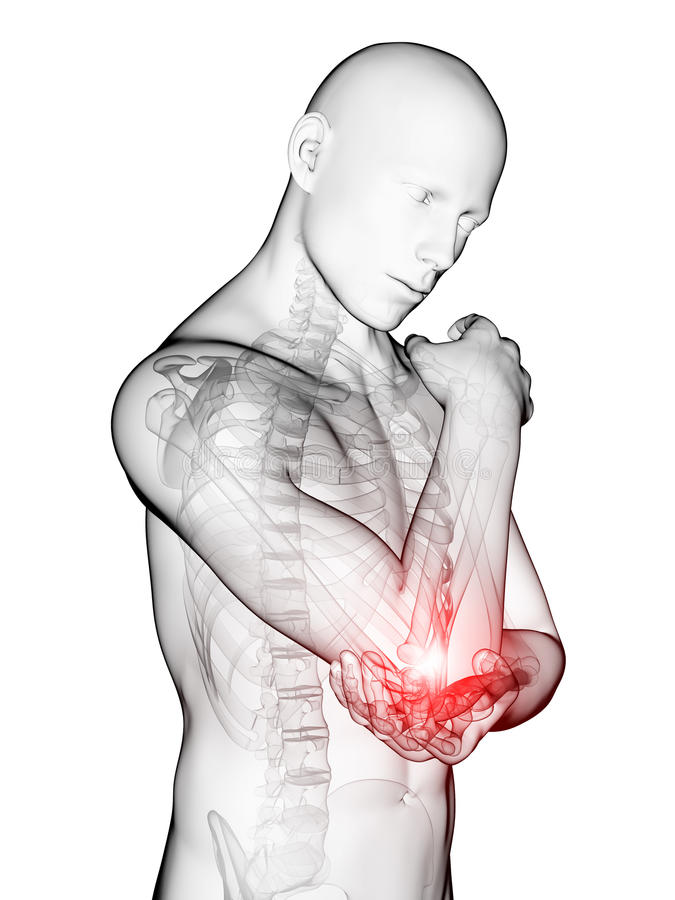 被突出的手肘 向量例证