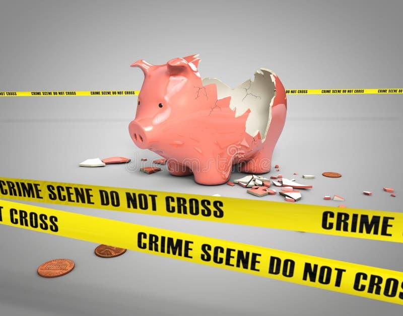 被窃取的存钱罐 库存例证