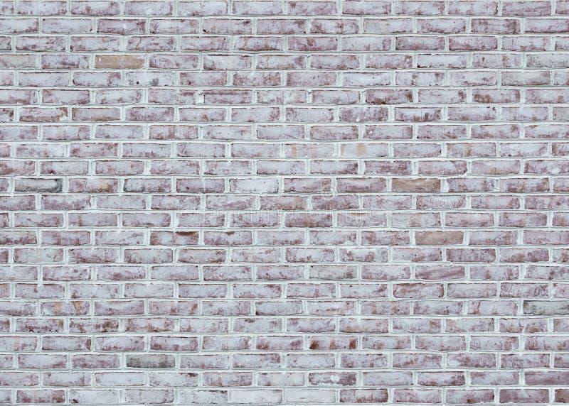 被粉刷的砖墙纹理 免版税库存照片
