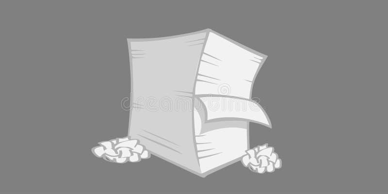 被粉碎的纸叠 库存例证