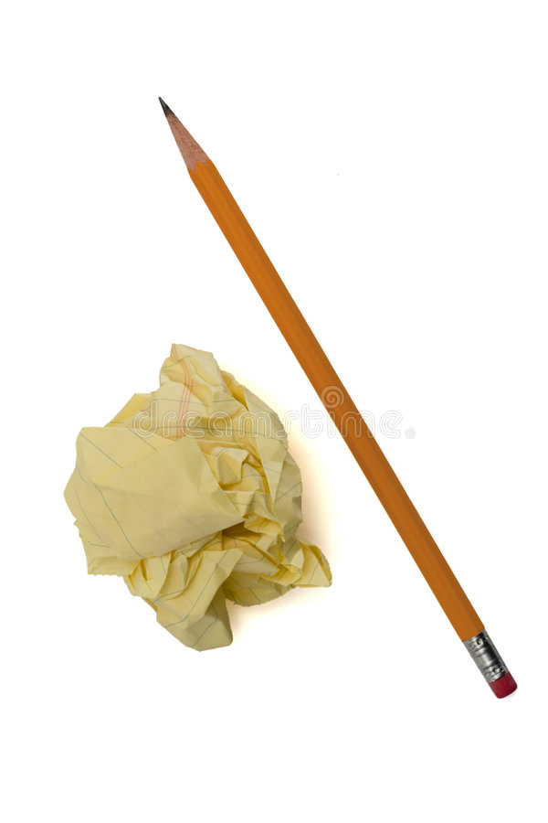 被粉碎的纸铅笔 免版税库存图片