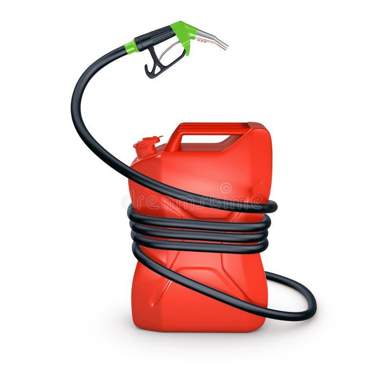 被紧压的罐燃料 库存例证