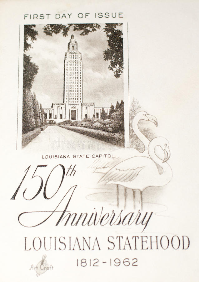 被纪念的路易斯安那国家地位 库存图片