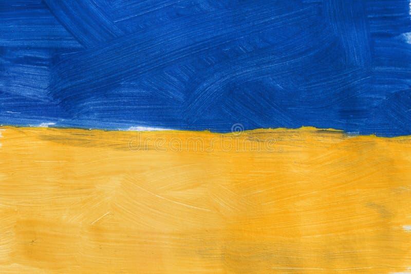被绘的乌克兰旗子 库存图片