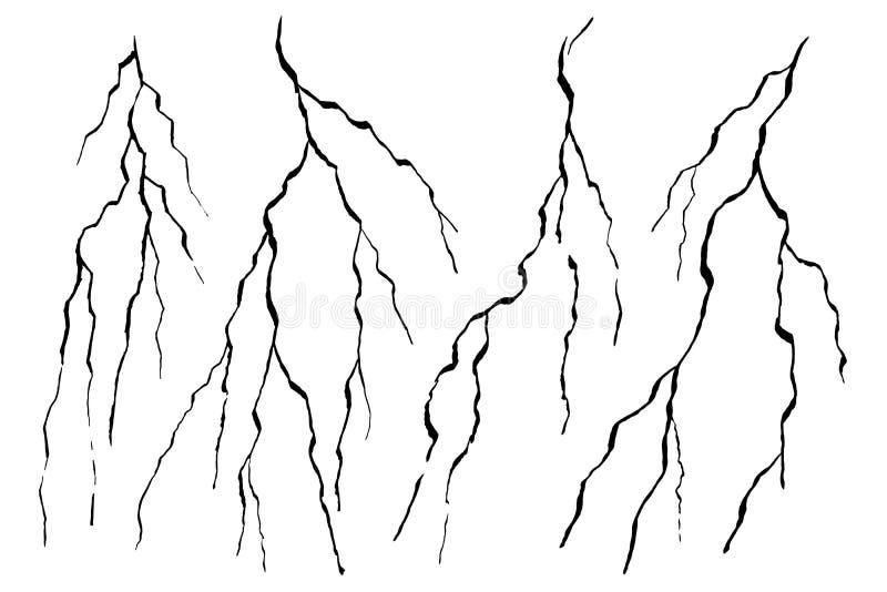 被绘的墙壁裂痕大理石 向量例证