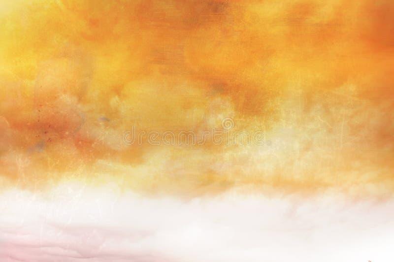 被绘的天空表面葡萄酒 库存图片
