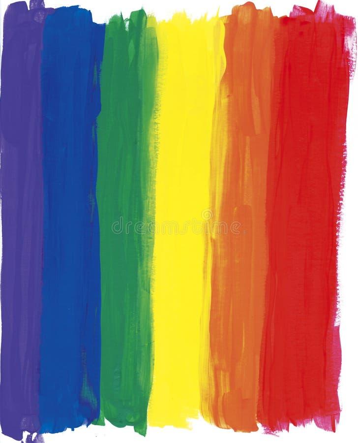 被绘的彩虹数据条 向量例证