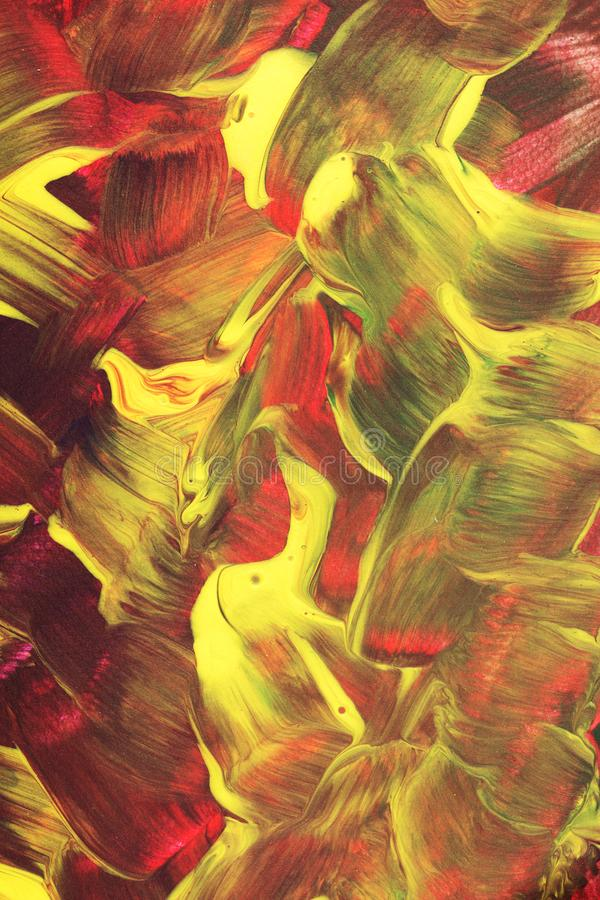 被绘的抽象五颜六色 库存照片