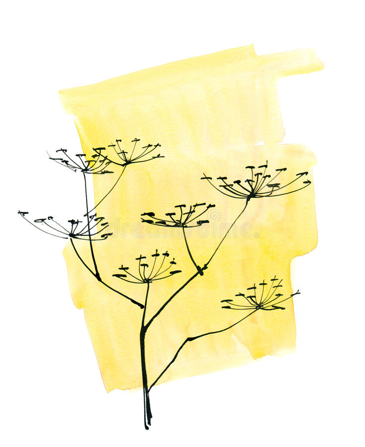 被绘的抽象背景花卉 免版税库存照片