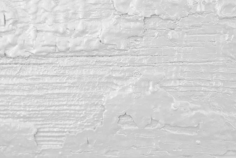 被绘的概略的木背景,白色老背景 库存照片
