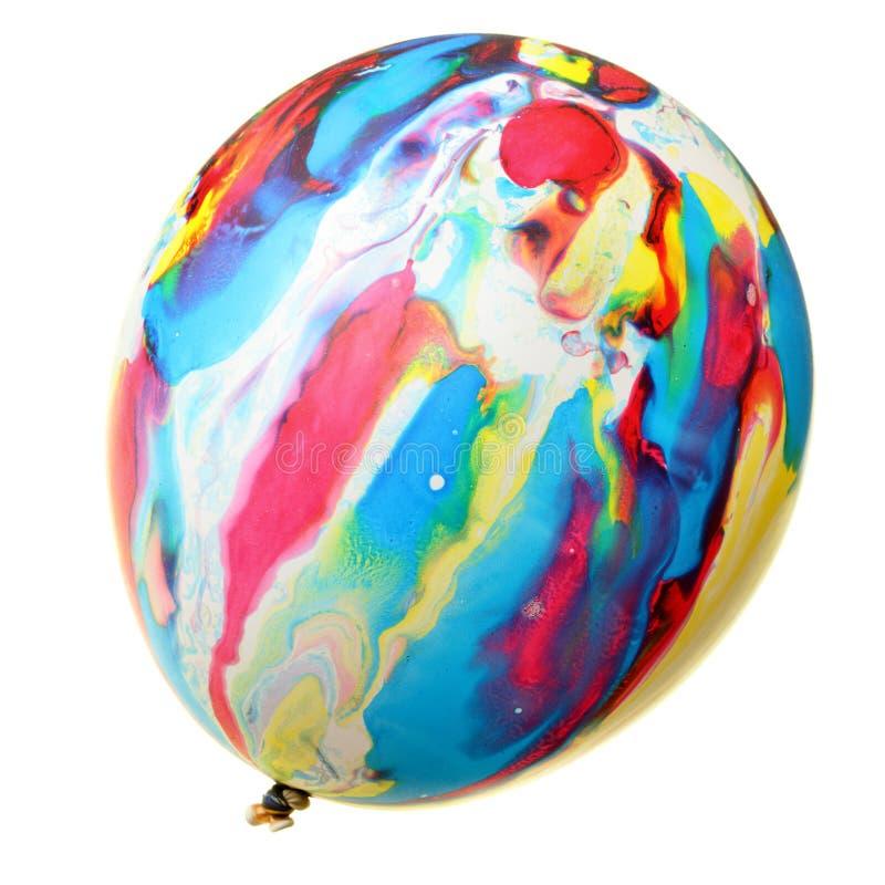 被绘的气球五颜六色 库存照片