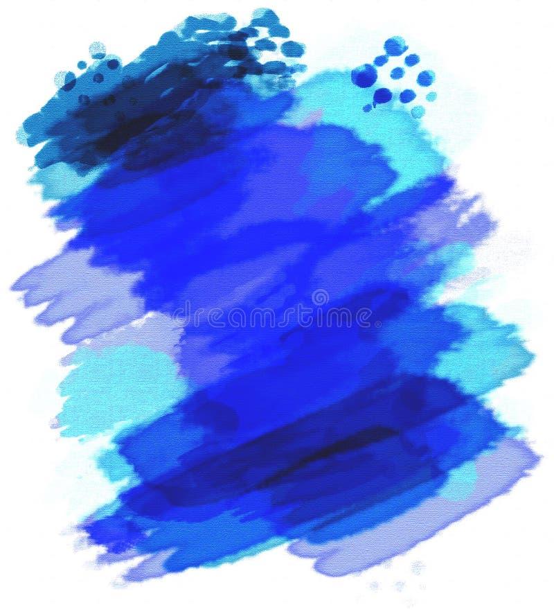 被绘的水彩 皇族释放例证