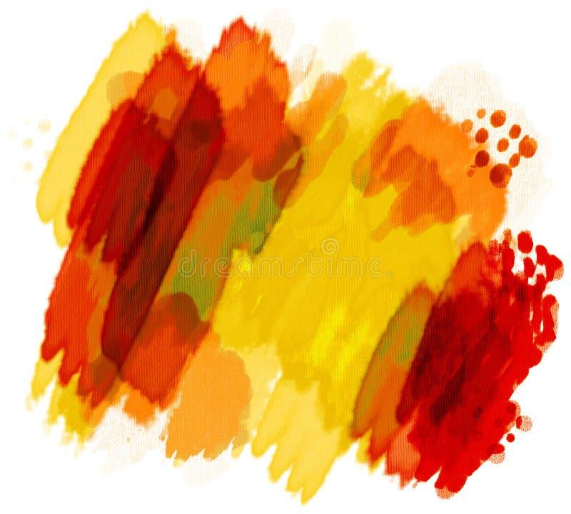 被绘的水彩 向量例证