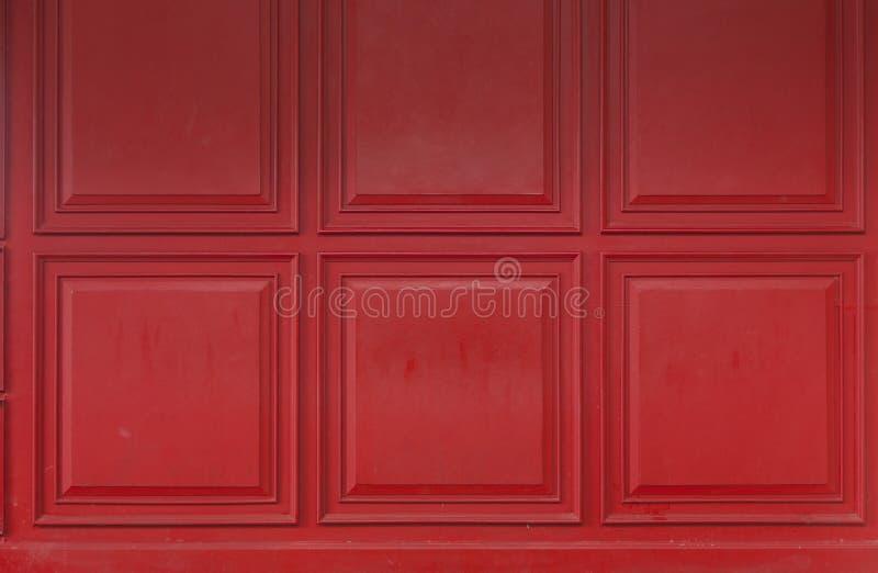 被绘的红色木背景材料 免版税库存照片