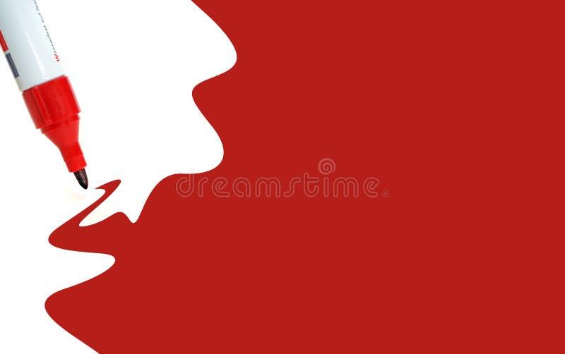 被绘的红色 免版税库存图片