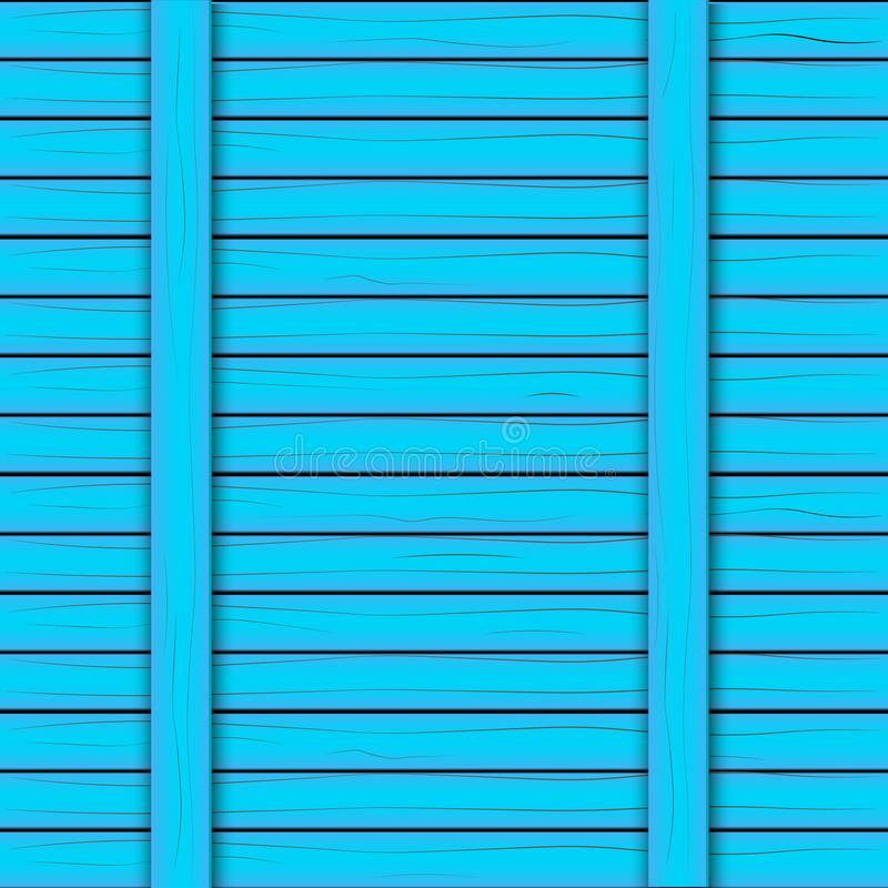 被绘的蓝色木背景 也corel凹道例证向量 免版税库存图片