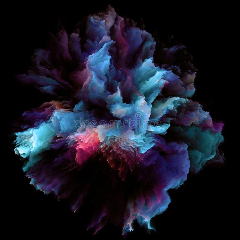 被绘的颜色飞溅爆炸 皇族释放例证