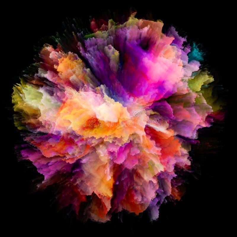 被绘的颜色飞溅爆炸 库存例证