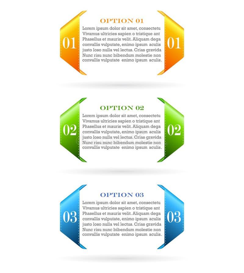 被编号的选择信息卡片 向量例证