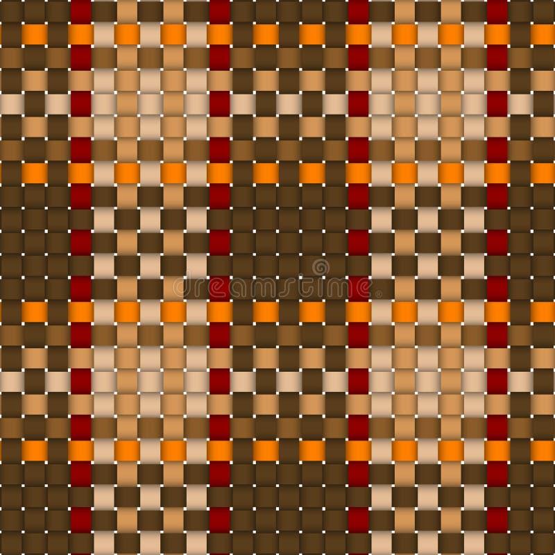 被编织的十字形模式格子花呢披肩无缝 向量例证