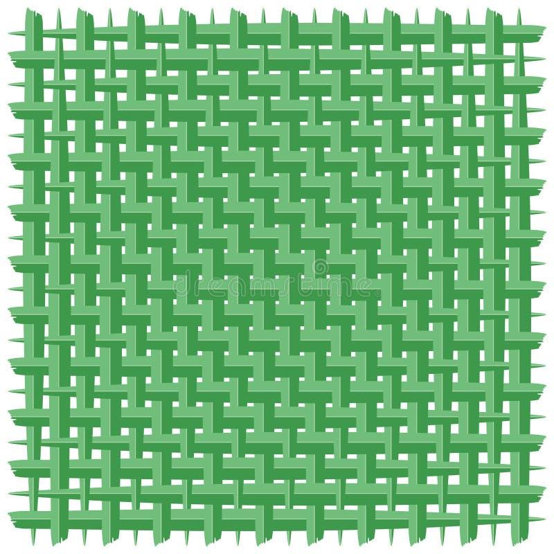被编织的椰子叶子绿色传染媒介背景 向量例证