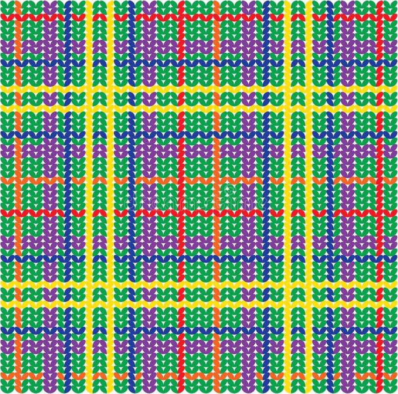 被编织的模式格子花呢披肩纹理 向量例证