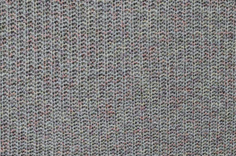 被编织的毛织物品纹理 库存照片