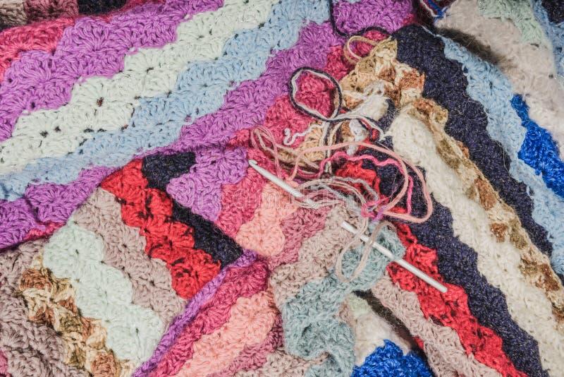 被编织的毯子 免版税库存图片