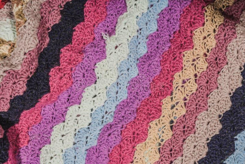 被编织的毯子 免版税图库摄影
