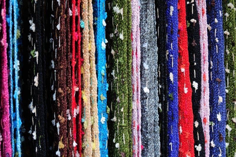 被编织的现有量丝绸 库存图片