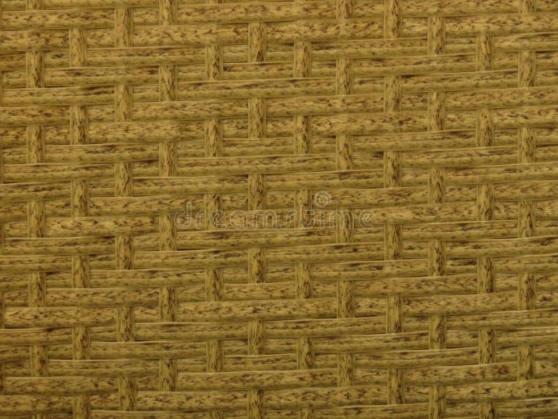 被编织的竹藤条篱芭背景秸杆织法纹理 藤条家具纹理 图库摄影