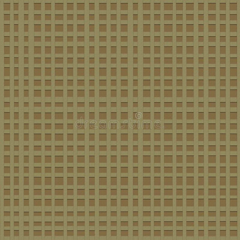 被编织的粗糙的布料方格的背景  向量例证