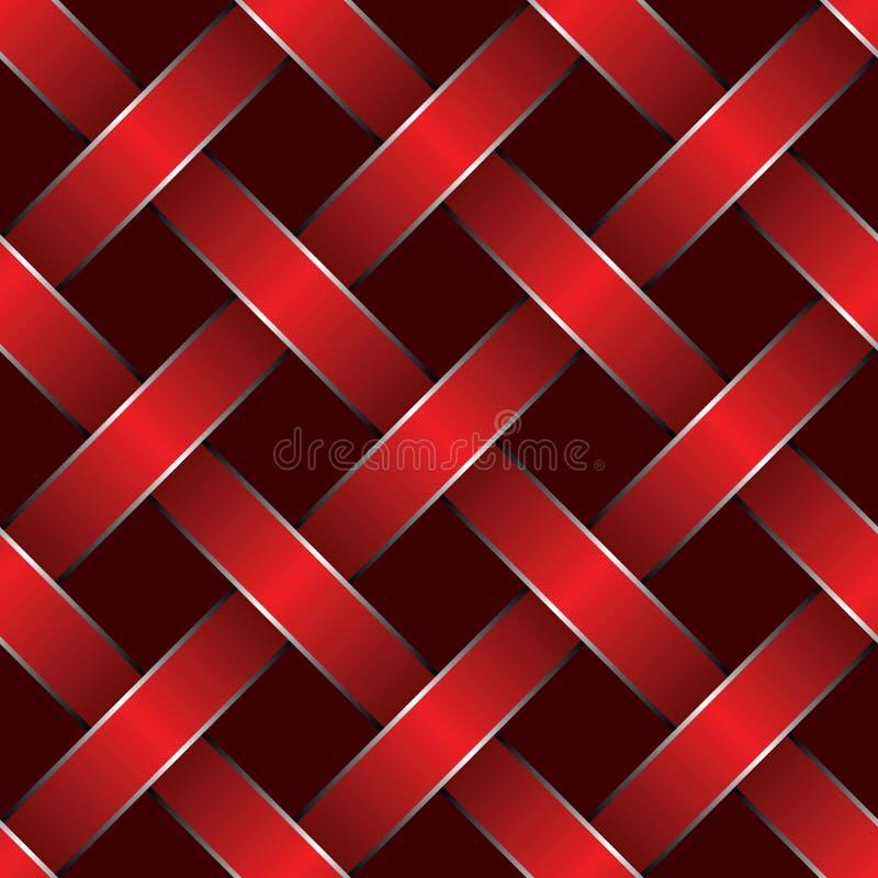 被编织的红色丝带 向量例证