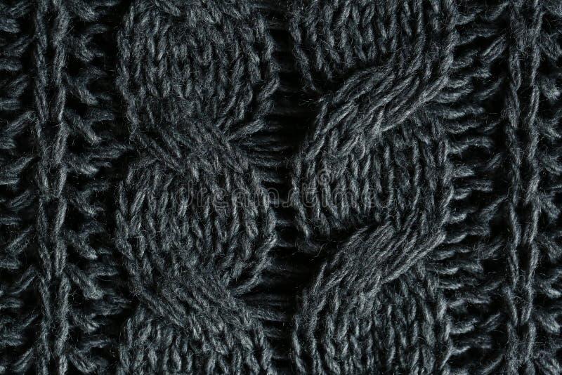 被编织的织品特写镜头 免版税库存照片